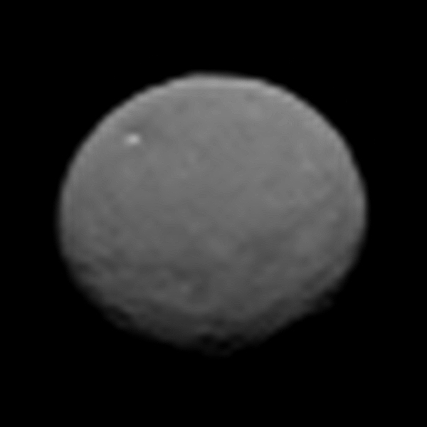 Black and white image of Ceres.