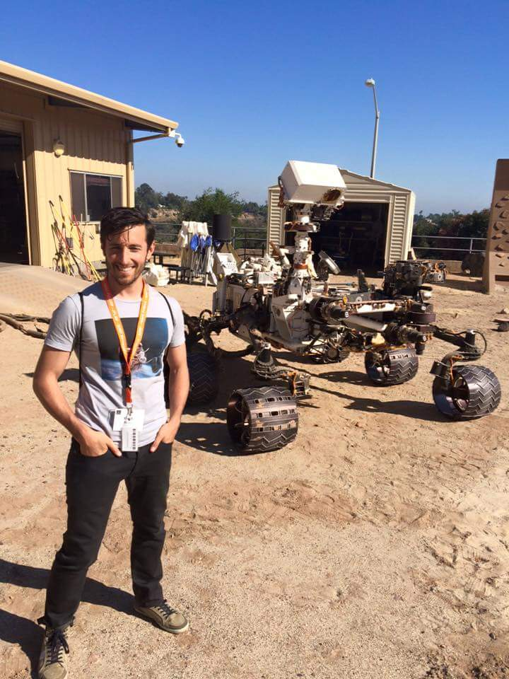 In front of Curiosity Rover