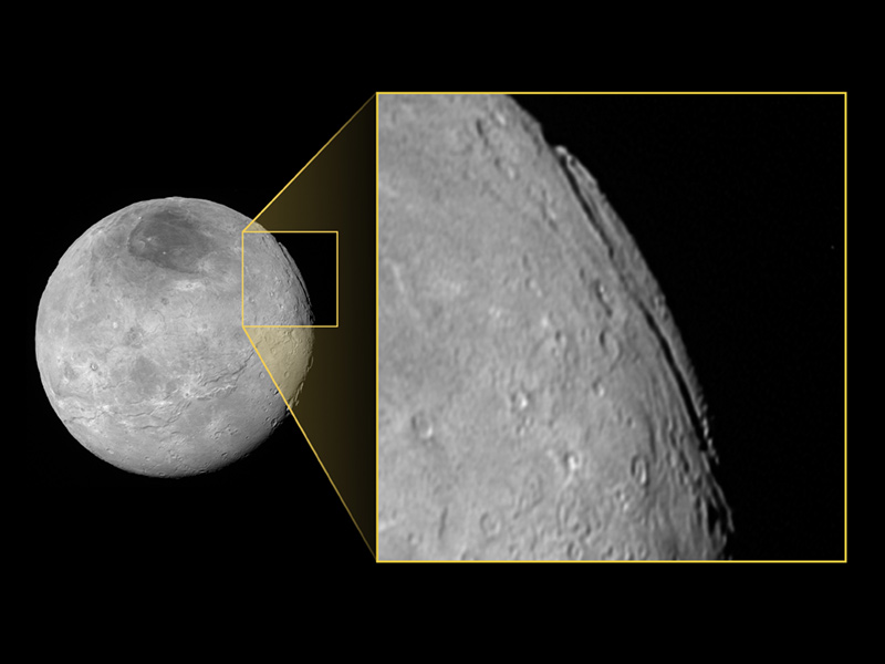 Image of Charon with Inset of Landscape