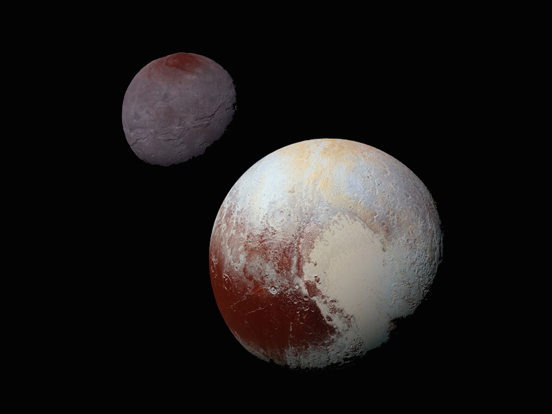 Composite image of Pluto and Charon