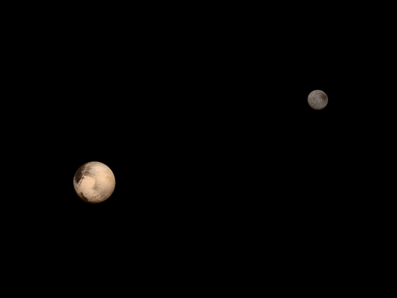 Image of Pluto and Charon