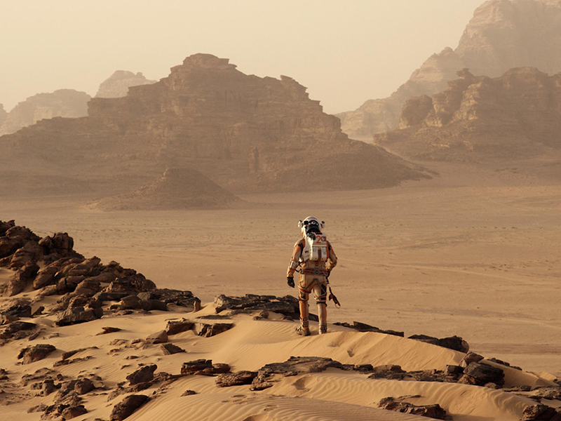 Movie still from The Martian