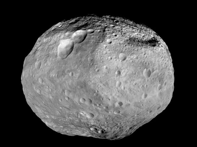 Full view of asteroid Vesta.