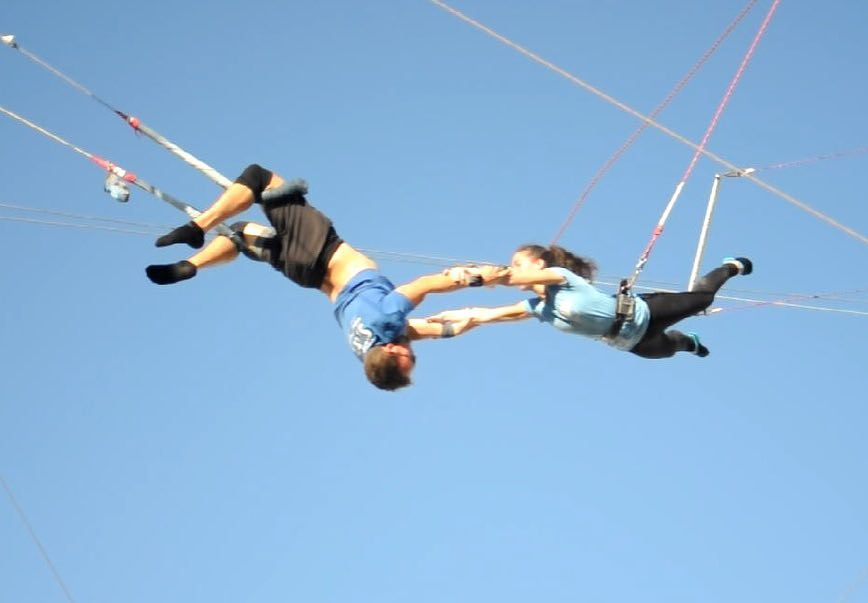 Holly flying trapeze