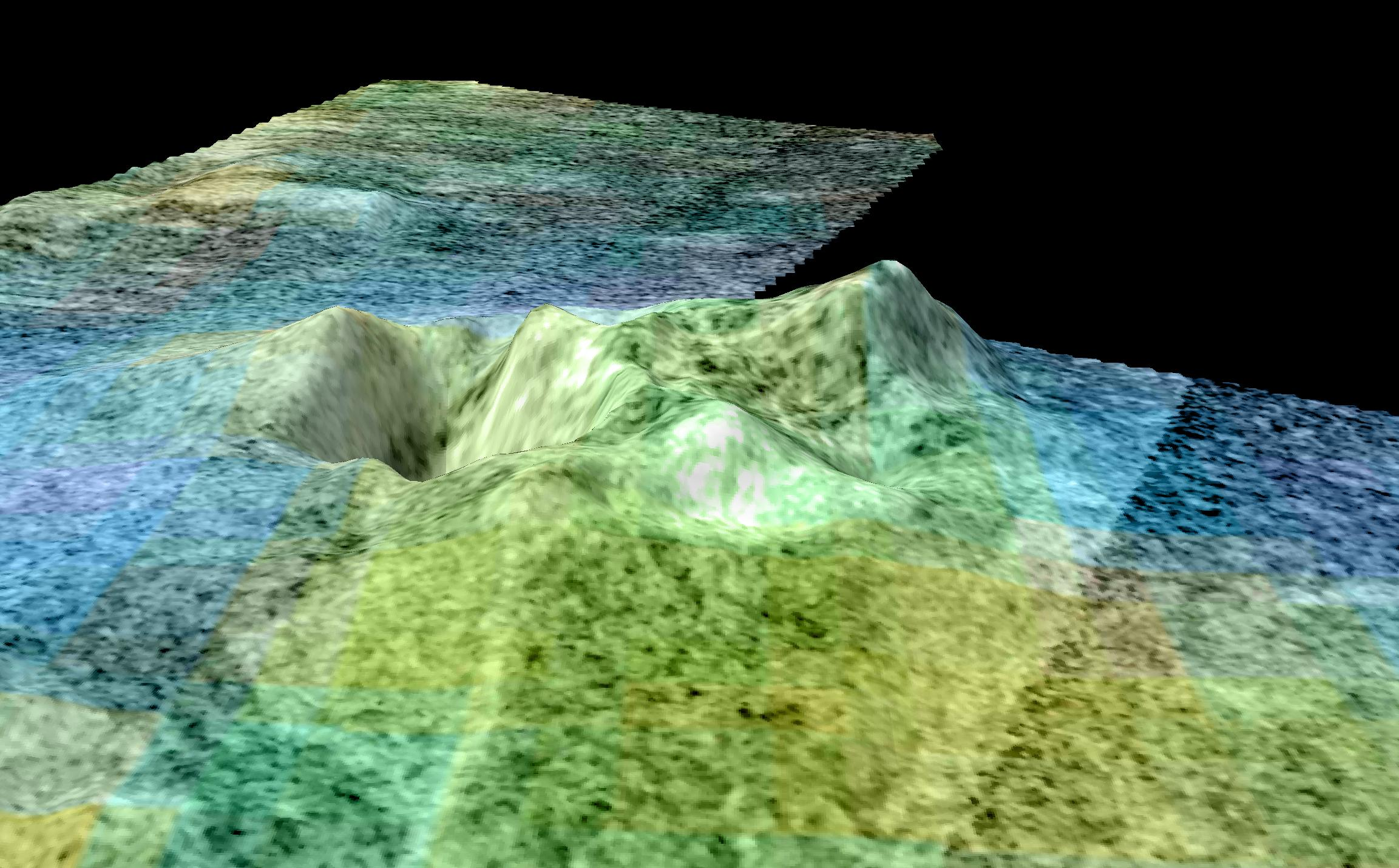 Radar image of terrain