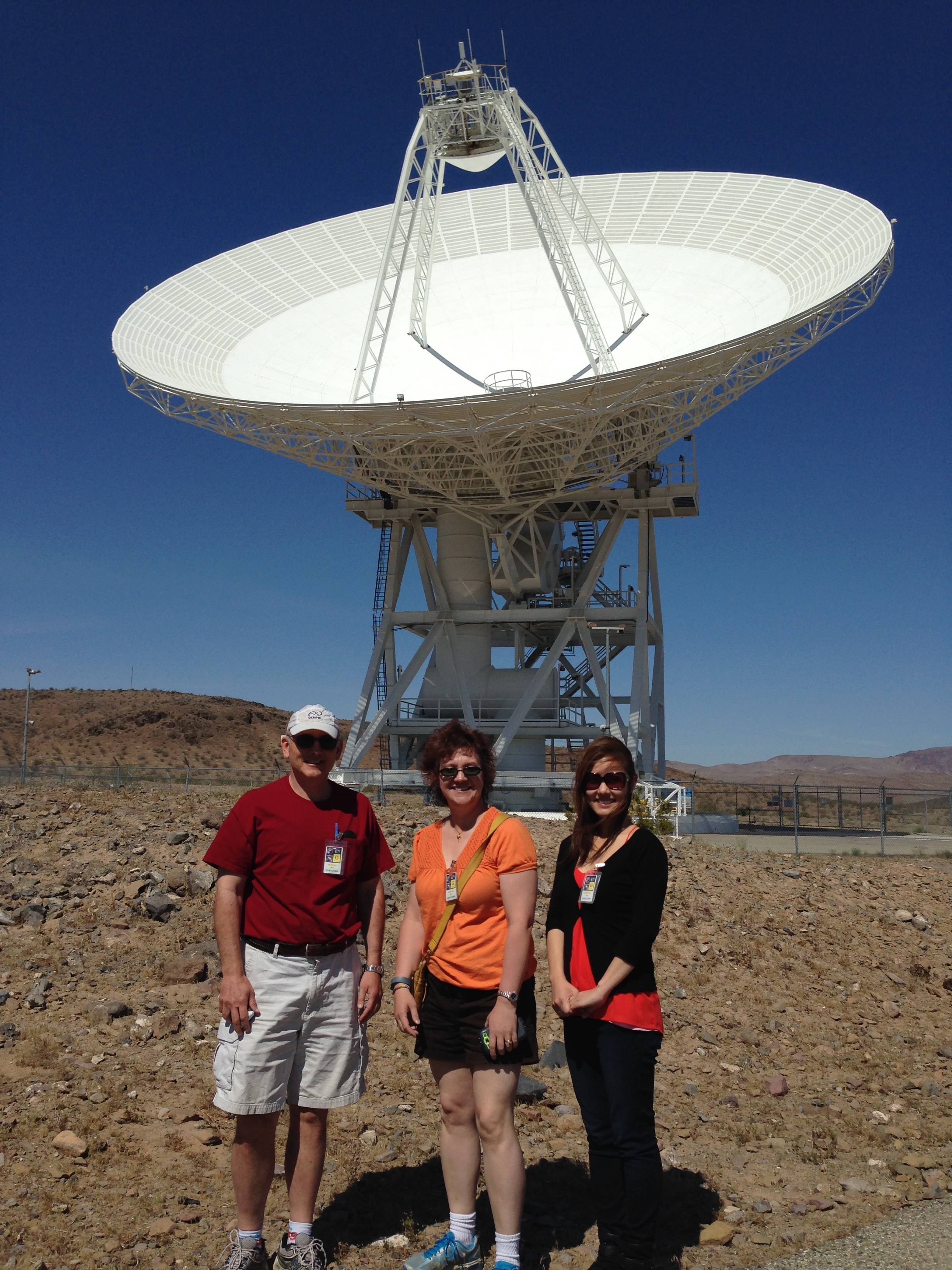 Nari at the Goldstone Deep Space Communications Complex in California.