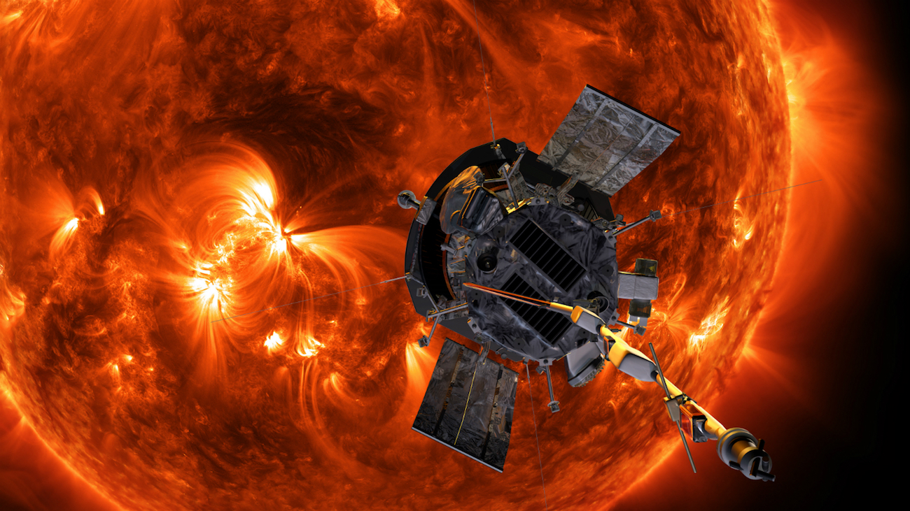 spacecraft and sun