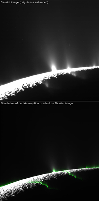 Enceladus Curtains