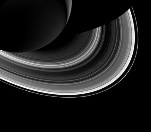 View of Unilluminated Side of the Rings