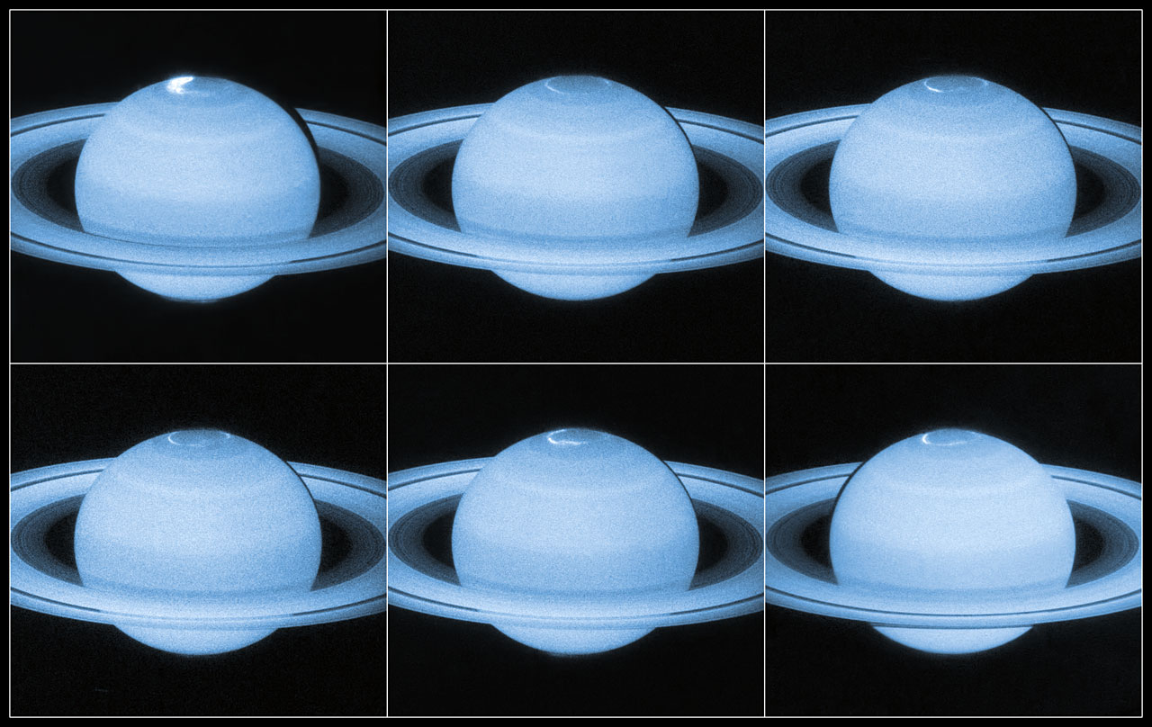 Auroral Lights at Saturn's North Pole