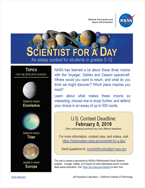 Rules & FAQ | Scientist for a Day – NASA Solar System