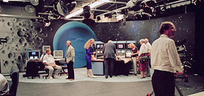 The television studio at NASA's Jet Propulsion Laboratory