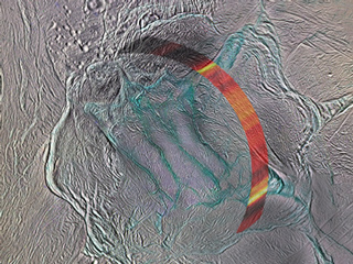 close up view of Enceladus