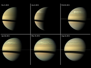 Six images of Saturn