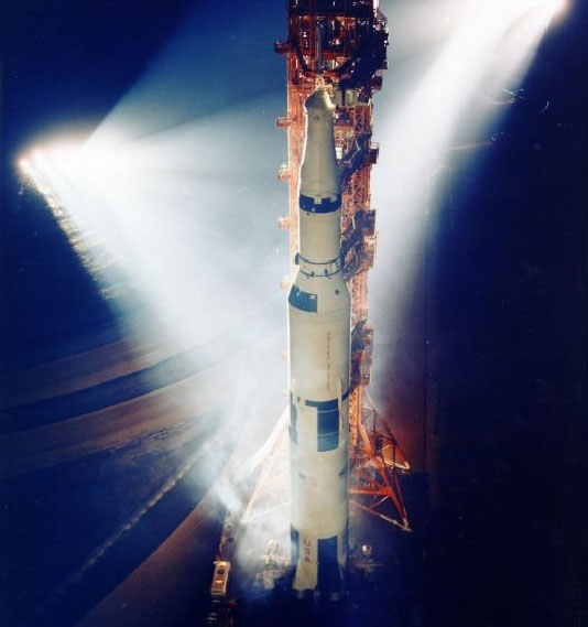 The Saturn V rocket was used to launch astronauts to the moon.