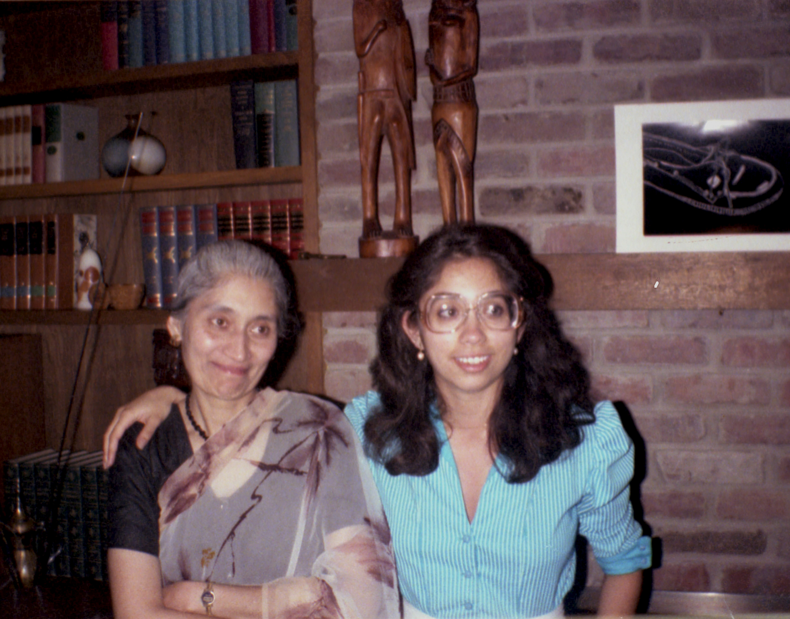 With her mother in the summer of 1983.