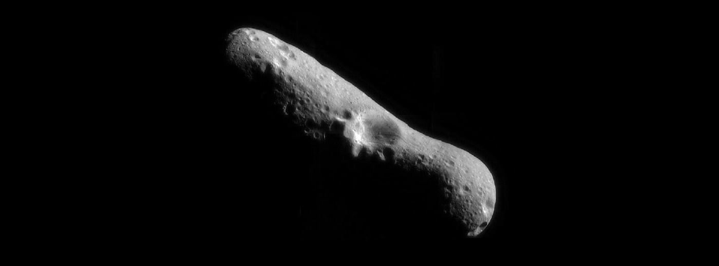 rocky asteroid in dark space