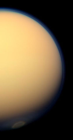The change of seasons on Titan is creating new cloud patterns at Titan's south pole