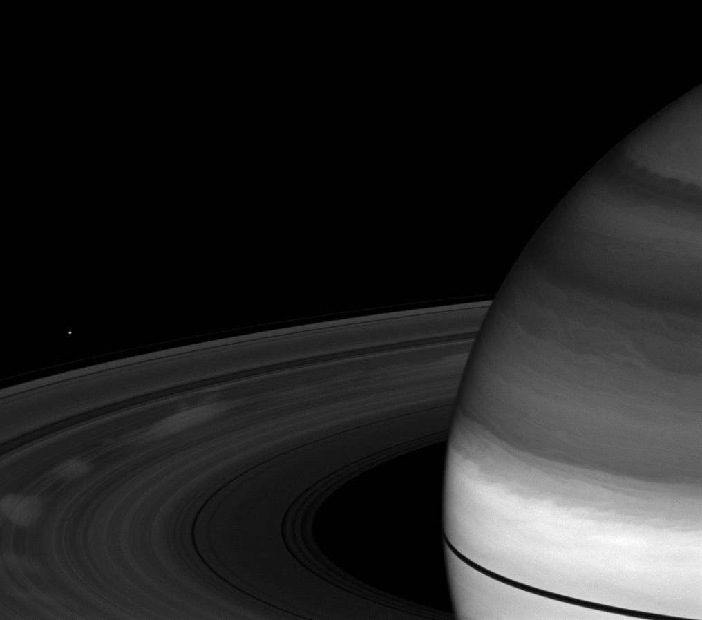 Spoke on Saturn's rings