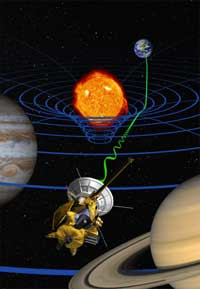 Artist's concept of general relativity experiment.