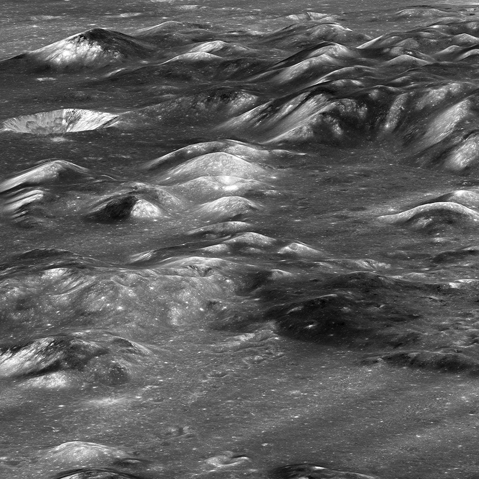 lunar mountains photographed up close