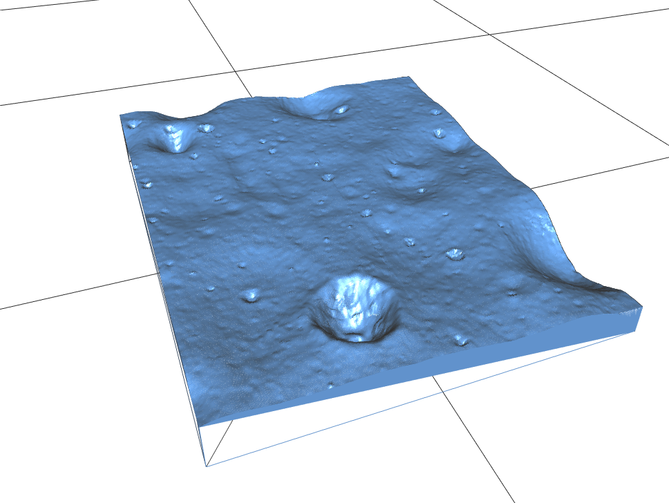 3d map of lunar surface