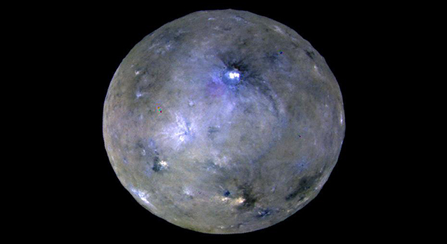 Image of Ceres with bright spot
