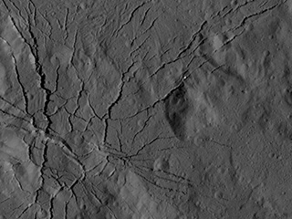 Canyons in Occator Crater