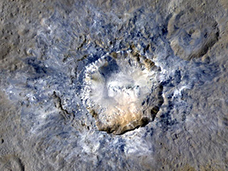 Haulani Crater in color