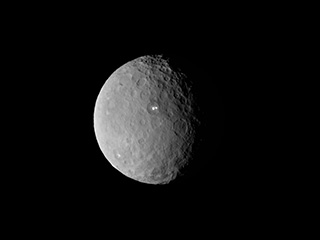 Animated gif of Ceres rotating as imaged by Dawn