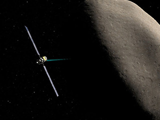 Artist's concept of the Dawn spacecraft at Ceres