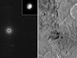 Images of the giant asteroid Vesta taken by NASA's Dawn spacecraft in 2011 and 2012