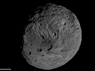 Image of asteroid Vesta taken by NASA's Dawn spacecraft from low altitude mapping orbit, or LAMO