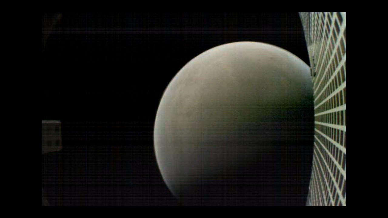 View of Mars from MarCO spacecraft.