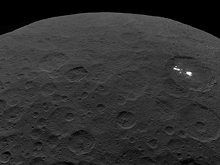 Half disc view of Ceres