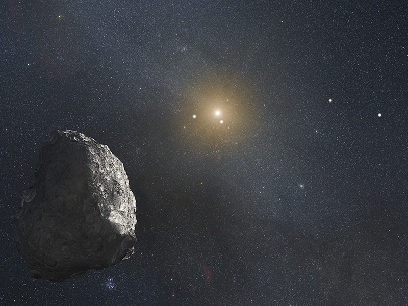 Artists concept of Kuiper Belt Object far from the Sun