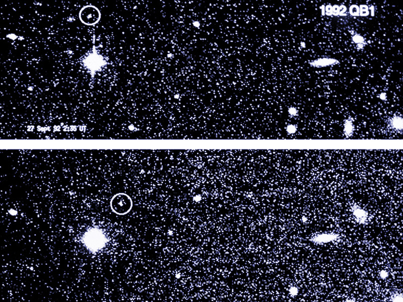 Fuzzy image of Kuiper Belt Object