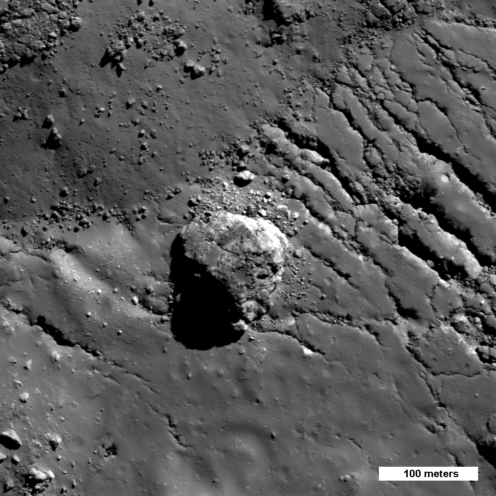 Close up of Boulder on the Moon.