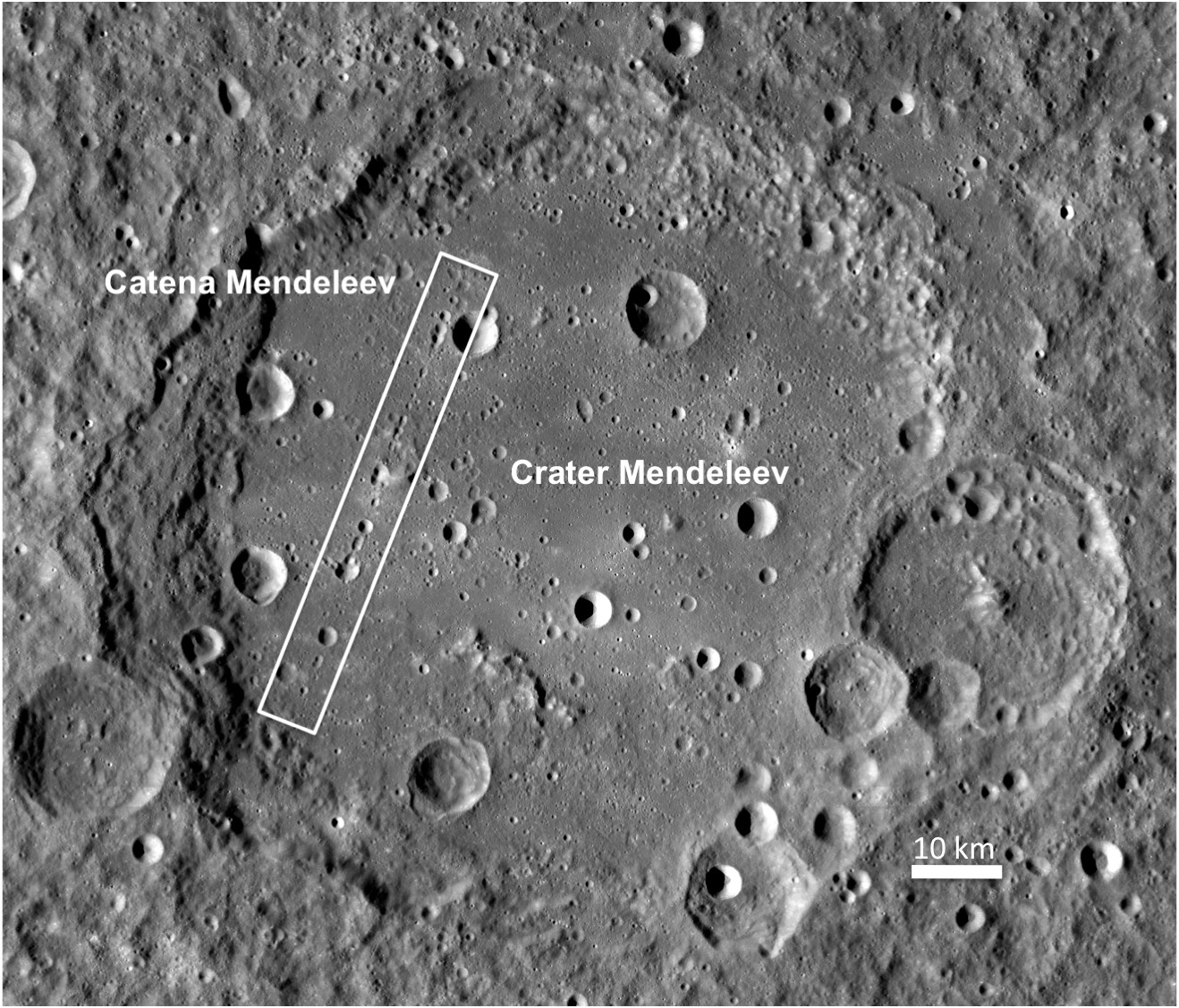 Impact crater full of impact craters on the Moon.