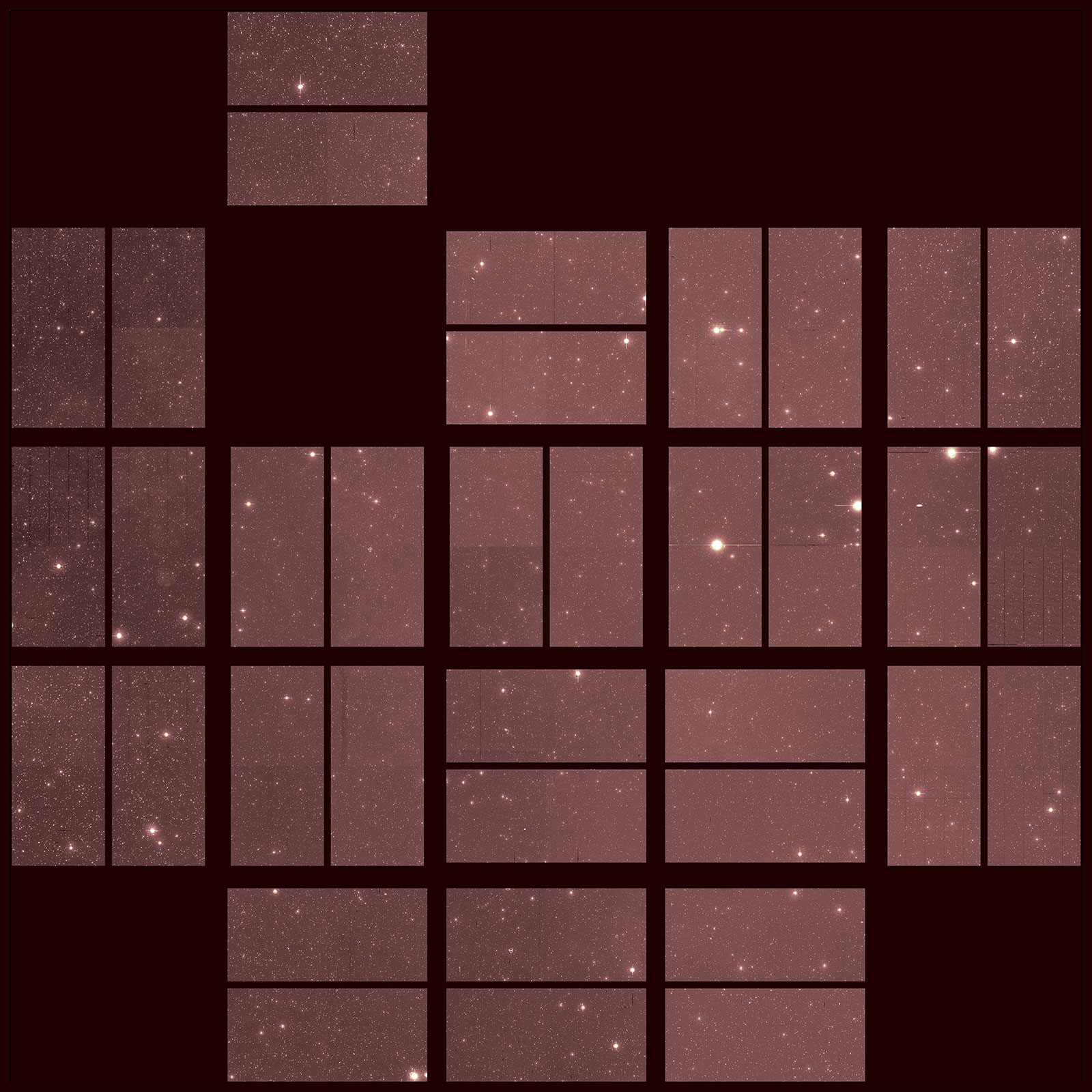 Grid view of distant stars with panels missing.