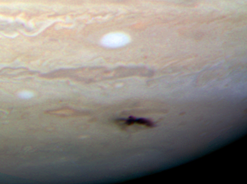 "Impact Spot on Jupiter. Credit: <a href=""http://www.nasa.gov/"">NASA</a><span>, </span><a href=""http://www.spacetelescope.org/"">ESA</a><span>, H. Hammel (Space Science Institute, Boulder, Colo.), and the Jupiter Impact Team 