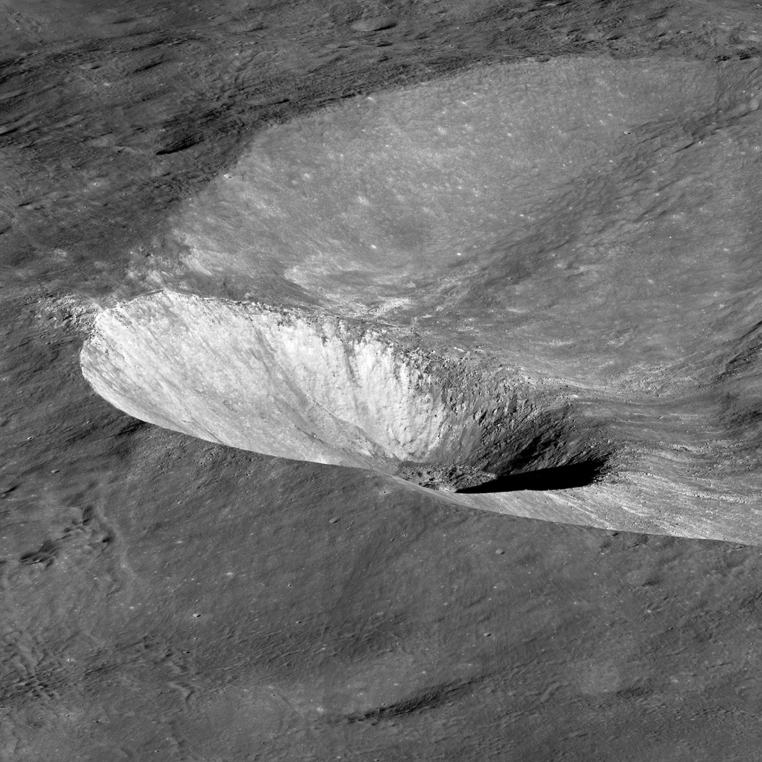 crater within a crater