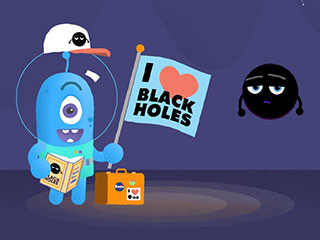 Whimsical Black Hole Cartoon