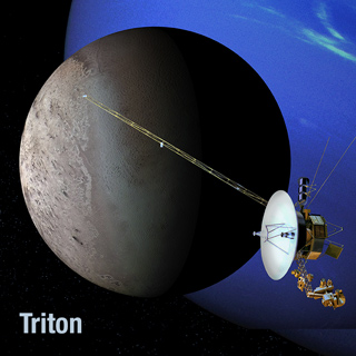 Artist's view of Voyager 2 at Triton