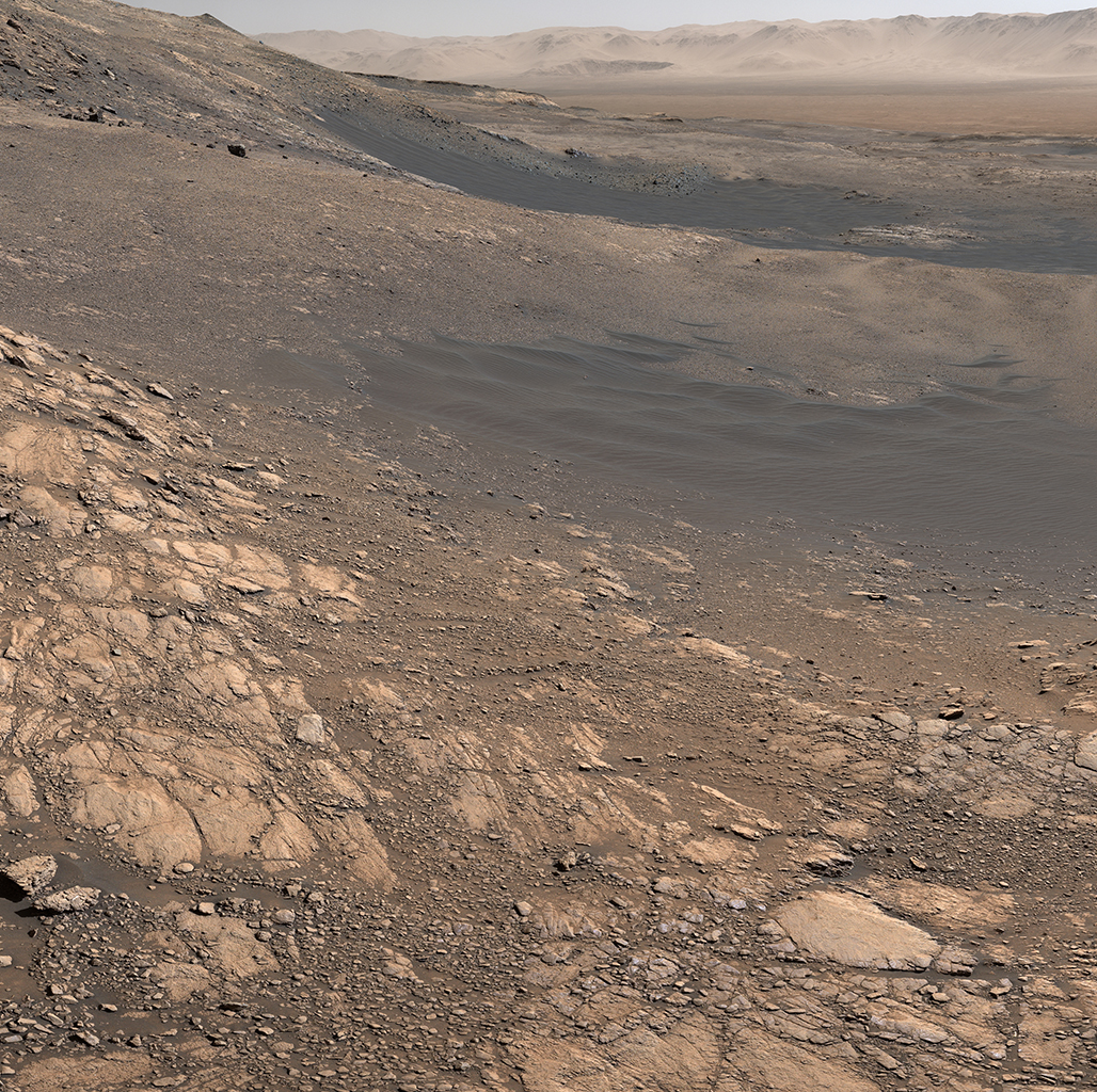 view from the surface of Mars