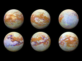 Infrared images of Saturn's moon Titan