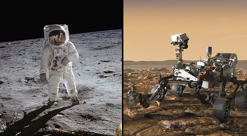 Buzz Aldrin and the Mars 2020 Rover