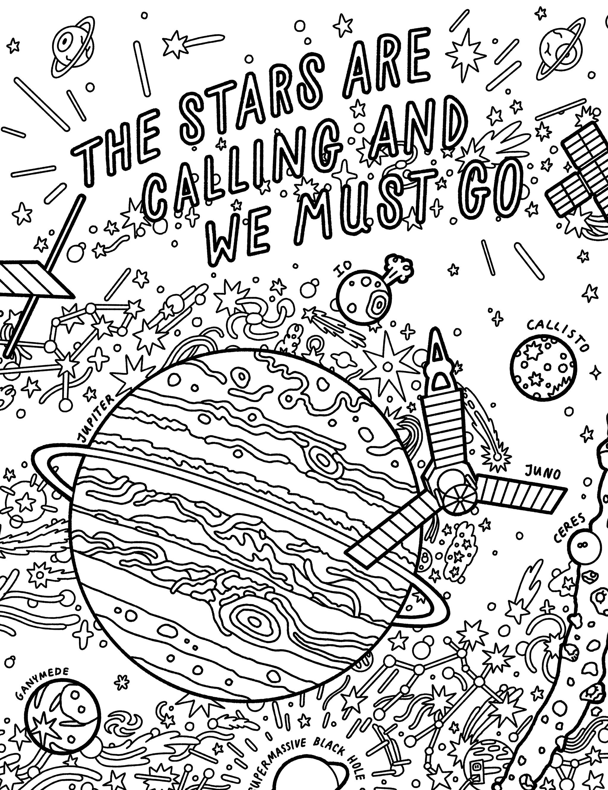 Color Your Universe Nasa Solar System Exploration