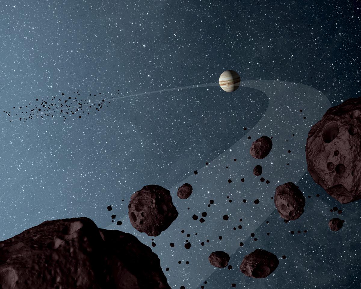trojan asteroids artist concept