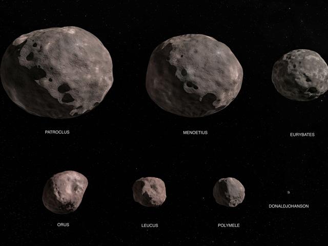 seven asteroids illustration